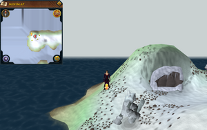 Scan clue Fremennik Isles west tip of north snowy island