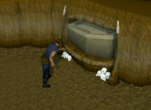 Looting ogre coffins
