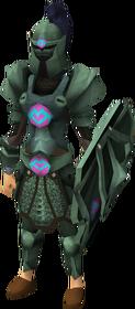 Adamant heraldic armour set 1 (sk) equipped