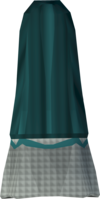 Colonist's skirt (green) detail