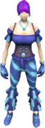 Disco outfit (female) equipped