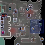 Lava Flow Mine entrance location