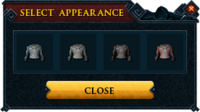 Fury shark outfit recolour interface