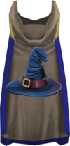 Hooded magic cape (t) detail