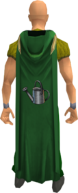 Hooded farming cape equipped