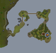 Hazelmere's island map