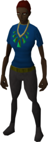 Prized pendant of Woodcutting equipped