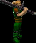 Arrav's sword equipped