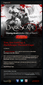 DarkScape closing email