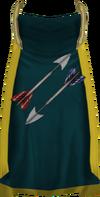 Fletching cape (t) detail