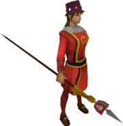 Queen's guard outfit equipped