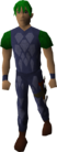 Blue dragonhide armour equipped old