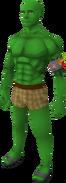 Guthix green skin equipped