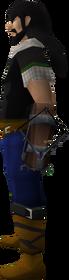 Off-hand heartseeker crossbow equipped