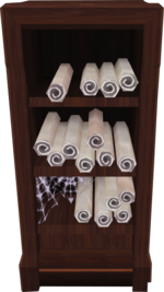 Scroll shelf