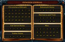 Dungeon journal