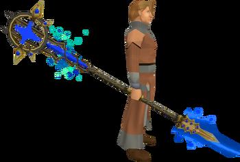 Saradomin Tuska spear equipped