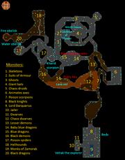 Taverley dungeon map