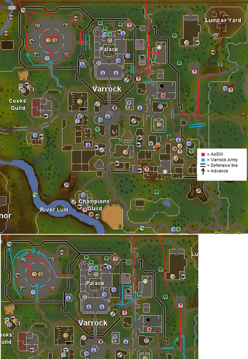 Battle of Varrock (WildyWar) map
