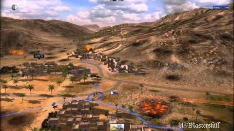RUSE Mission 3 Kasserine Pass Gameplay Hard (Wargamer) Difficulty (1 2)