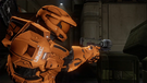 Grif holds sticky grenade launcher