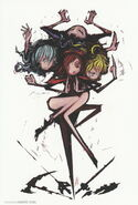 Team RWBY (RWBY Official Japanese Fanbook, Illustration,Hajime Ueda)