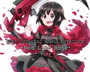 Tribute art of Ruby Rose for RWBY Manga Anthology Red Like Roses by moromoimaru