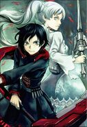 Ruby, Weiss (RWBY Official Japanese Fanbook, Illustration,Yoshitoshi Abe)