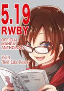 Tribute art of Ruby Rose for RWBY Manga Anthology Red Like Roses by moaiMsama