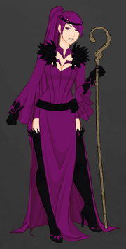 Ebony with the Standard Sorceress Attire(Staff Optional)