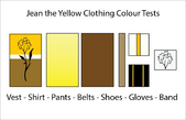 Jean the Yellow Clothing Colours