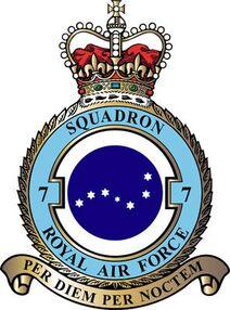 RAF Seven Squadron S1 Flag