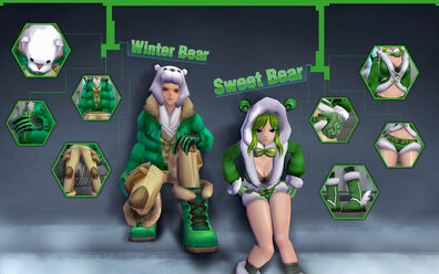 WinterandSweet BearsGreen