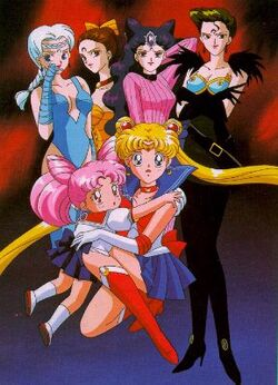 Negamoon Sisters vs Sailor Moon