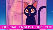 Sailor Moon - OFFICIAL DUB CLIP- Luna Appears! - Own Set 1 on BD DVD 11 11 14