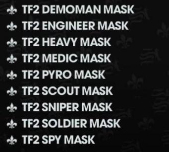 Valve Clothing Pack list