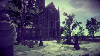 Saints Row Church - graveyard in Saints Row IV