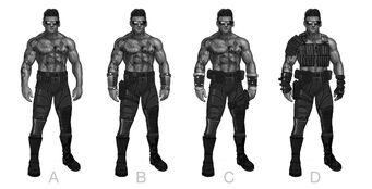 Johnny Gat Concept Art - Super Homie - four shirtless