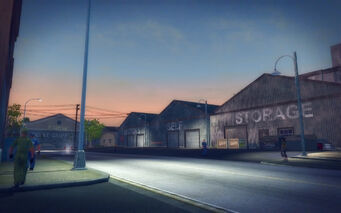 Charlestown in Saints Row 2 - Sutton's self storage