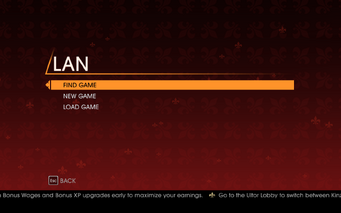 Saints Row Gat out of Hell - Main Menu - Co-op Campaign - LAN Game