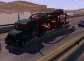 Peterliner - front left with car trailer in Saints Row