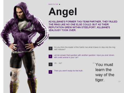 Saints Row website - Gangs - The Saints - Angel