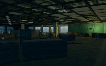 Abandoned office building - interior looking away from doorway