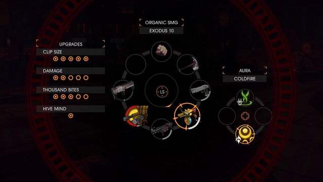 File:Gat out of Hell Gameplay Demo 0123 Weapon - 'Organic SMG' (Costume - Exodus 10).png