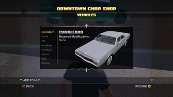 Saints Row Chop Shop - Downtown - Cavallaro
