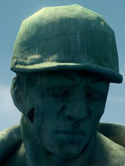 Joe Steel statue face
