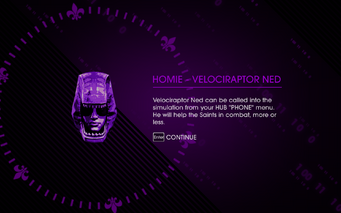 Escape the Dominatrix reward - Homie - Velociraptor Ned unlocked