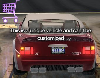 Jessica's Phoenix - unique vehicle message