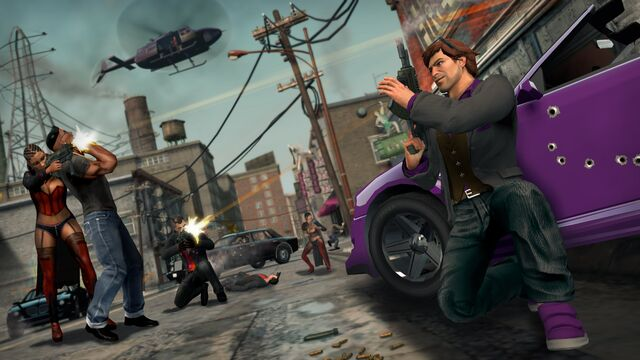 File:Justice, Torch, Morningstar, Oppressor, Human Shield in Saints Row The Third Promo.jpg