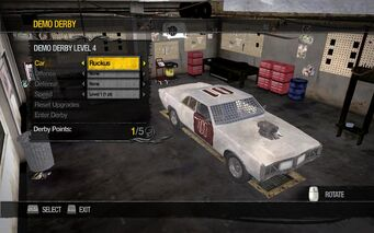 Ruckus in Demo Derby Level 4 interface in Saints Row 2